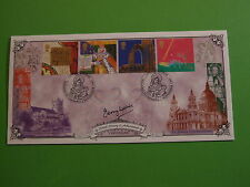 BRADBURY FDC COVER 1999 MILLENNIUM CHRISTIANS TALE WITH SHS SIGNED TERRY WAITE