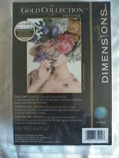 Dimensions Gold Collection Petites Garden Lady counted cross stitch kit  NEW