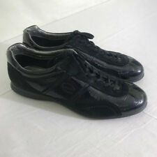 Ecco womens shoes size EUR 40 US 10 black patent and suede fashion sneakers