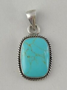 Taxco Sterling Silver 925 Turquoise Pendant
