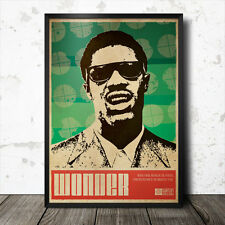 Stevie Wonder Art Poster Music Soul Funk Motown Otis Redding Aretha Franklin
