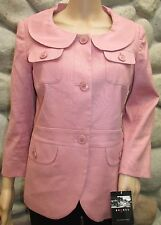 NWT Women's axcess Fully lined 3/4 Sleeve Jacket Rosewater Size 6