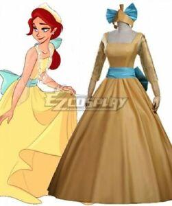 Princess Anastasia yellow dress cosplay costume