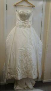 Eternity Bride Ivory Strapless Wedding Dress -Beaded Detailing-