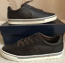 BNIB MENS POLO RALPH LAUREN HANFORD LEATHER SHOES/TRAINERS/SNEAKERS SIZE 10