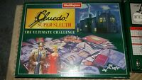 Waddingtons Cluedo Super Sleuth Board Game metal figures retro sherelock deduce