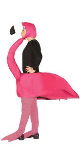 DELUXE Adult Flamingo Fancy Dress Costume Bird Men Ladies Animal Unisex Stag Do