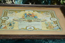Large Framed early 20th Century Friendly Society Certificate