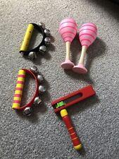 Toddler Baby Wooden Musical Instruments Bells Maracas
