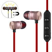 Magnetic Bluetooth Sports Earphone Headset Wireless Headphone In-Ear Earbuds LJ