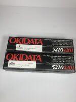 OKIDATA 5210 4201 SEALED GENUINE 2 REPLACEMENT BLACK TONER CARTRIDGE KIT