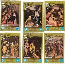 LAOS - Bustina 6 francobolli serie CORREGIO