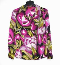 Missoni for Target - Womens 14 (L) -  Abstract Geometric Floral L/S Woven Blouse