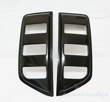 WINDOW BLACK SIDE VENT GUARD PAIR FOR NISSAN NAVARA D40 4 DOORS PICKUP 2005-2013