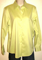 Talbots Wrinkle Resistant Light Green Long Sleeve Button Down Shirt Size 4