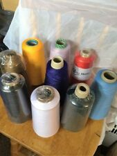 50 x BIG CONES INDUSTRAIL SEWING OVERLOCKER THREAD 10000m each  ASSORTED COLOURS