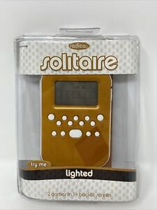 NEW 2009 Mattel Radica Lighted Solitaire Handheld Electronic 2-in-1 Card Game