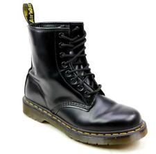 WOMENS DOC DR MARTENS CLASSIC AIRWAIR BLACK LEATHER LACE UP FASHION BOOTS SIZE 5