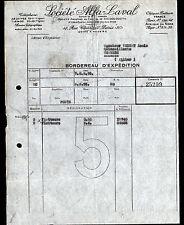 """PARIS (IV°) USINE de NEVERS (58) MATERIELS AGRICOLES """"Société ALFA LAVAL"""" 1956"""