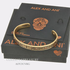 Authentic Alex and Ani Calavera Cuff Rafaelian Gold Bangle CUFF
