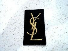 New Gold YSL Laurent Logo Patches Embroidered Cloth Applique Badge Iron Sew On