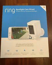 New listing New Ring Spotlight Cam Wired Hd WiFi Security Camera Two-Way Talk Ir Night Light