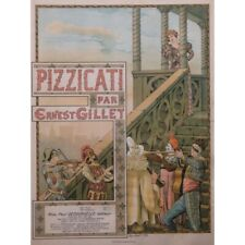 GILLET Ernest Pizzicati Piano 1894 partition sheet music score