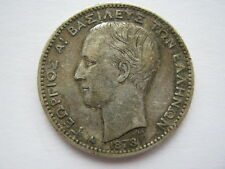Greece 1873-A silver 1 Drachma NVF