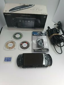 Boxed Sony PSP-2003 with Games, Memory Card, Charger, and Brand New Battery