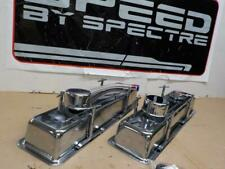 SMALL BLOCK CHEVY SBC CHROME KIT>>VALVE COVERS, Hold Downs & Breathers 54083
