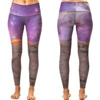 Teeki Women's Leggings Medium Hot Pant Pants Space Love Pilates Made In USA