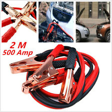 2M 500amp Car Truck Emergency Jump Leads Booster Cable Battery Start Jumper Firm