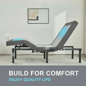 Adjustable Twin XL Bed Frame Multi Position Wireless Remote USB Charging