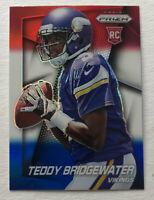 2014 Panini Prizm Teddy Bridgewater Red White And Blue Refractor Rookie Card
