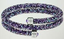 Swarovski Crystal Dust Doppel-Armreif, Purple, Stainless Steel 5385843 New Price