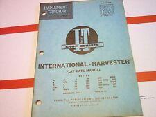 A B C Cub H M MTA 100 130 200 230 300 350 400 450 International Flat Rate Manual