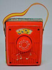 "VINTAGE 1969 FISHER PRICE MUSIC BOX POCKET RADIO #759 ""DO-RE-MI"" WORKS"