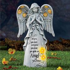 "Solar Lighted ""Loved Ones Lost"" Angel Memorial Cemetery Garden Statue"