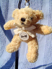 STEIFF KEY RING  Beige Teddy Bear made from SOFT PLUSH 5 in  NEW
