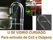 U de VIDRIO cristal ACUARIO Tubo de Aire Oxigenador CO2 bomba difusores manguera