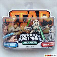 Star Wars Galactic Heroes General Grievous and Obi-Wan Kenobi 2-pack figures