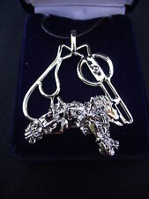 Horse Jewelry Driving horse Harness Liverpool platinum clad necklace keychain