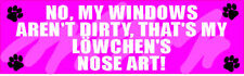 My LÖWchen Lowchen Nose Art Sticker