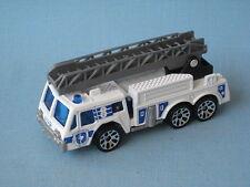 Matchbox Ladder Fire Engine Blanco Con Gris Escalera