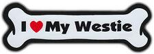 Dog Bone Magnet: I Love My Westie | Cars, Refrigerators | West Highland Terrier