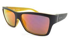 BLOC - Elevador Hombre Gafas De Sol Negro Mate - Amarillo OSCURAS/Rojo