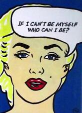 Erotico originale pop art dipinto ad olio di Terry P Wylde: crisi di identità