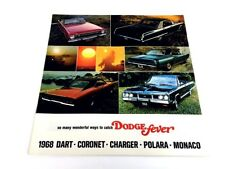 1968 Dodge Sales Brochure Catalog - Charger R/T Coronet Dart GTS Monaco Polara
