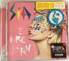 "SIA (Furler) ""We Are Born *Limited Edition"" 2010 19Trk Aust. 2CD *BonusRemixesCD"