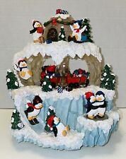 Christmas Music Box Lights Sounds Moves San Fransisco Music Box Penguin Mountain